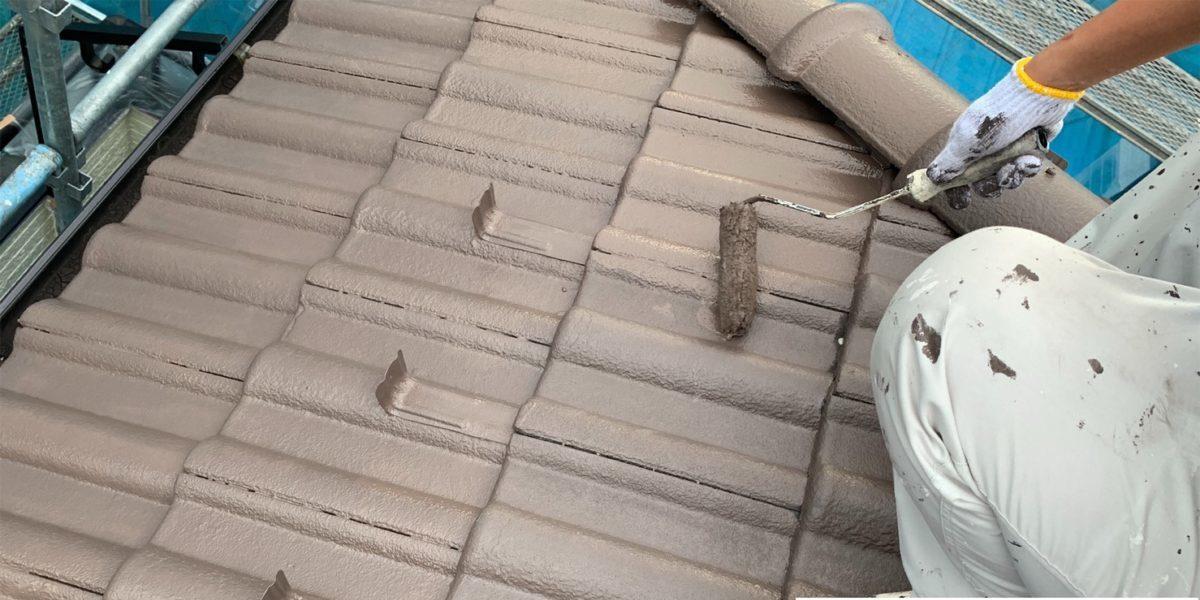 瓦屋根上塗り
